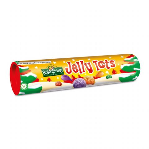 Rowntrees Jelly Tots Sweets Giant Tube 130g